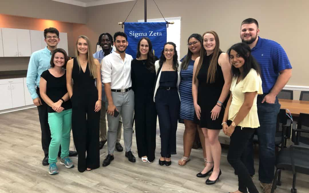 New Students Inducted to Sigma Zeta Honor Society!