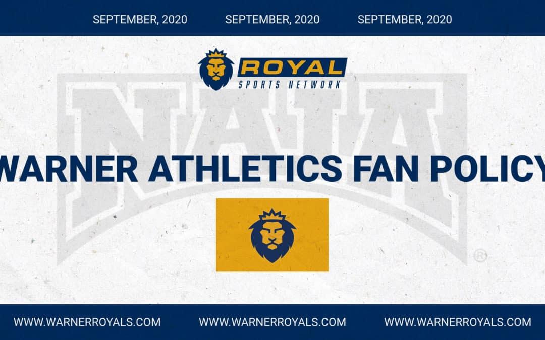 Warner University Athletics October Fan Policy