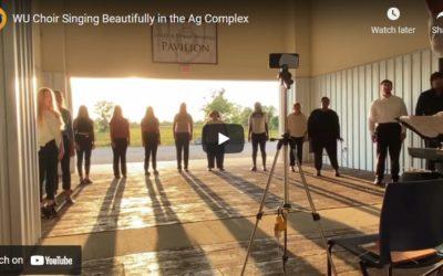 WU Choir Sings Beautifully at Swindle Ag Complex